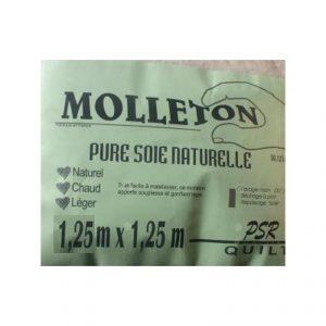 Molleton en pure soie naturelle