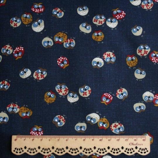 Tissu Hibou japonais en coton