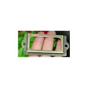 Porte étiquette pour boite cartonnage
