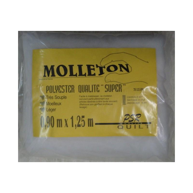 Molleton polyester nuage 1*1m