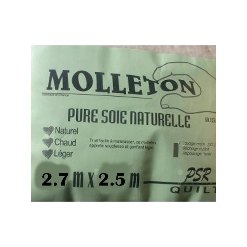 molleton pure soie naturelle 2.7m x 2.5m