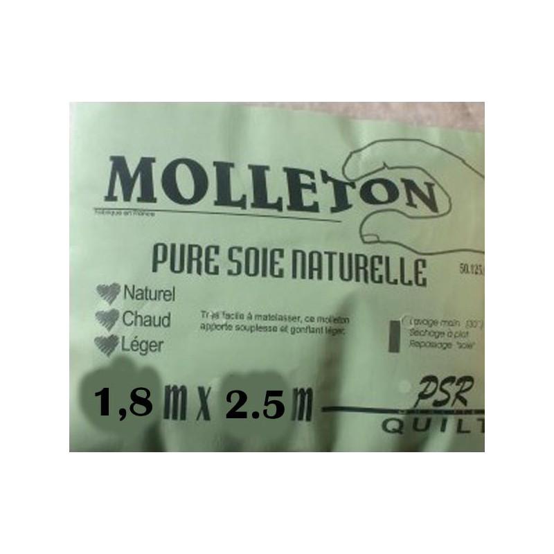 molleton pure soie naturelle 1.8m x 2.5m