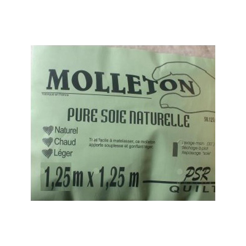 Molleton en pure soie naturelle