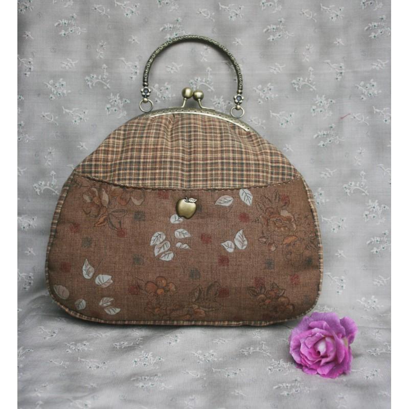 Mini sac de motif de fleur(kit sans anse)