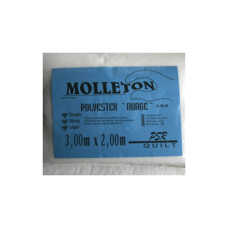 Molleton polyester nuage 3mx2m