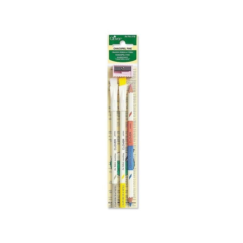 Crayon craie porte mine 0,9mm + mines blanches