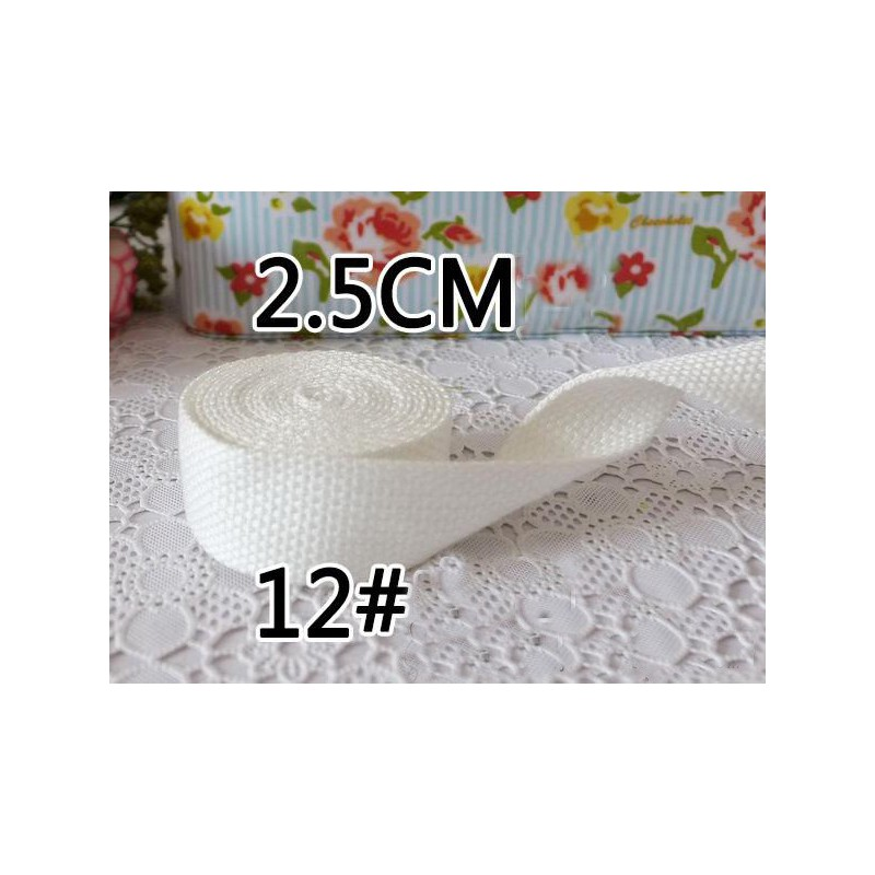 Sangle pour sac en coton 2.5cm