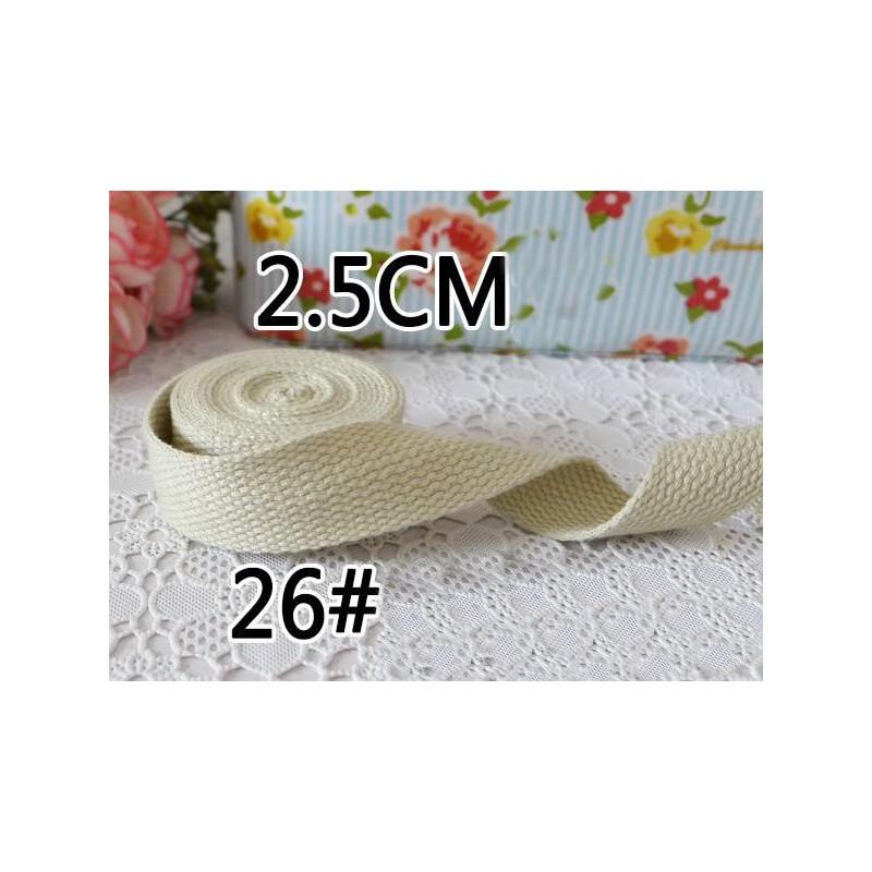 Sangle pour sac en coton 2.5cm