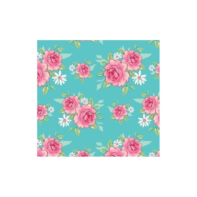 Tissu Tilda 50*55cm rosy teal
