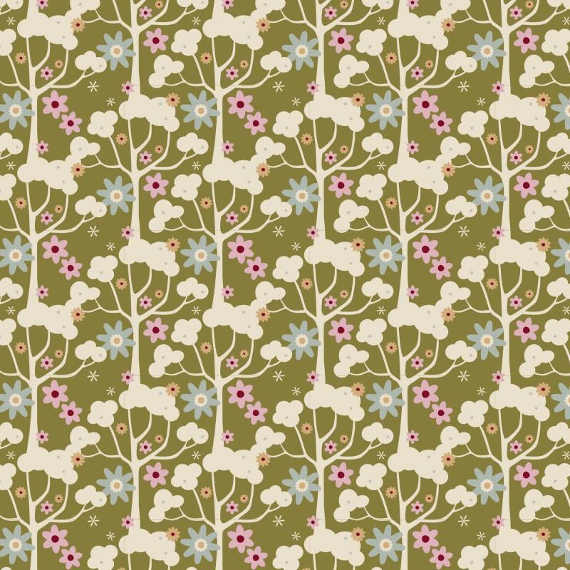 Tissu Tilda 50*55cm wildgarden green
