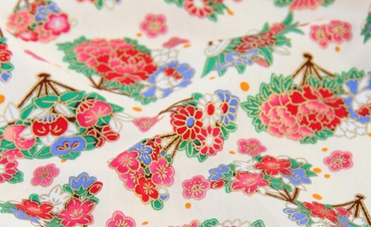 Tissus japonais fleuris