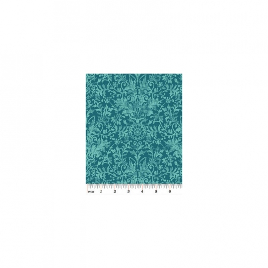 Textured Scroll Teal