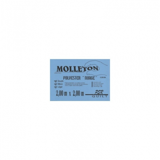 Molleton polyester nuage 1*1.5m