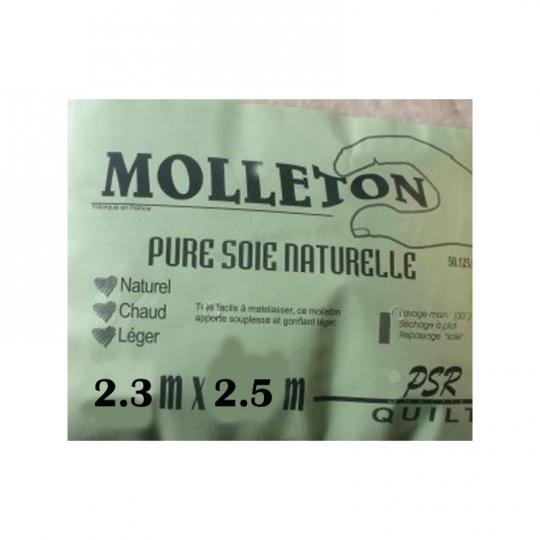 molleton pure soie naturelle 2.3m x 2.5m