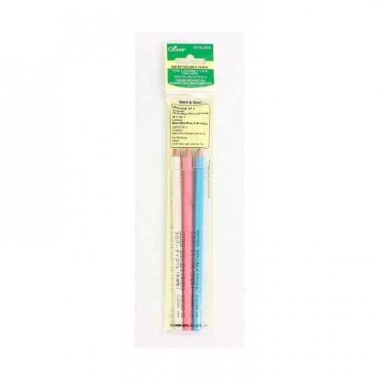 Set de 3 crayons craies effaçables à l'eau