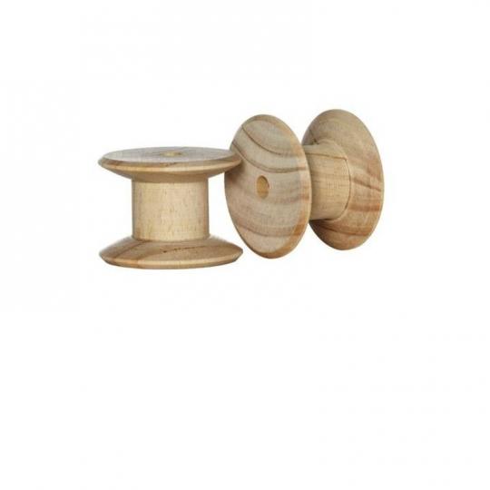 Bobine en bois pour couture Tilda par 2 pièces