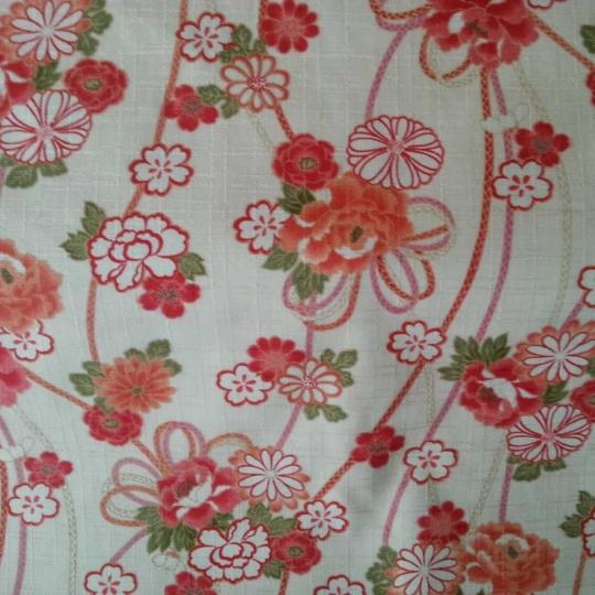Tissus traditionnel japonais fleuri