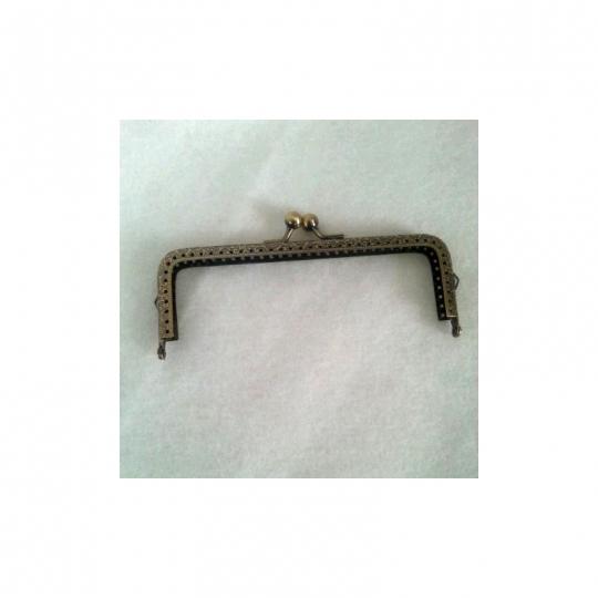 Fermoir rectangulaire 15cm couleur bronze
