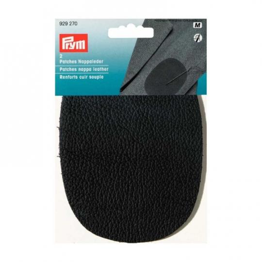 Coudes renforts cuir souple grainé noir à coudre prym 929270