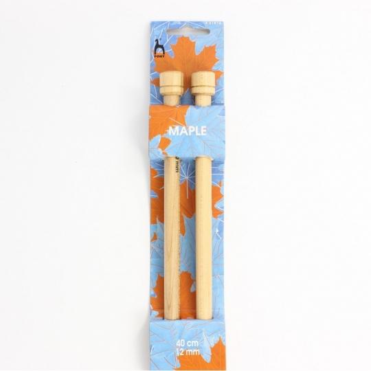 Aiguille à tricoter bois d'érable 40cm n°12-PONY