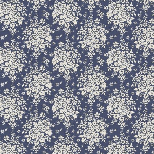 Tissu Tilda 50*55cm audrey dark blue