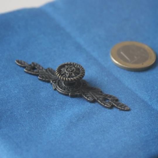 poignee cartonnage ancien bronze